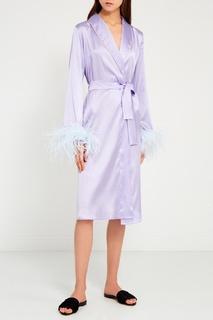 Фиолетовый шелковый халат Primrose