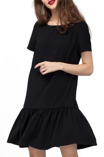 Прямое платье с короткими рукавами VILATTE