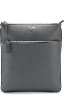 Кожаная сумка-планшет с внешним карманом на молнии Serapian