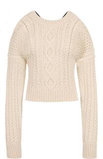 Пуловер фактурной вязки с открытыми плечами и спиной CALVIN KLEIN 205W39NYC
