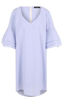 Мини-платье свободного кроя с короткими рукавами Pietro Brunelli