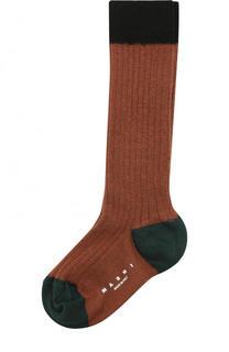 Хлопковые носки с контрастной отделкой Marni