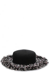 Шляпа с отделкой из твида Eugenia Kim