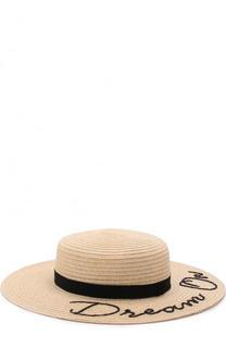 Шляпа Colette с лентой и аппликацией Eugenia Kim