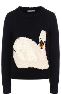 Шерстяной пуловер с вышивкой в виде лебедя J.W. Anderson