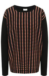 Пуловер из смеси хлопка и шелка с круглым вырезом Dries Van Noten