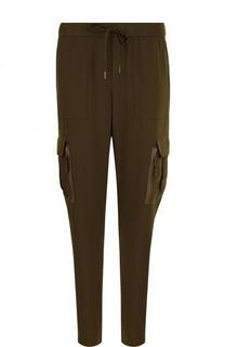 Однотонные брюки с эластичным поясом и накладными карманами Polo Ralph Lauren