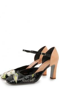 Замшевые туфли с вышивкой пайетками Dries Van Noten