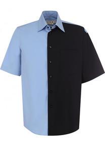 Хлопковая рубашка свободного кроя Marni