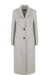 Пальто из смеси шерсти и шелка с накладными карманами Joseph