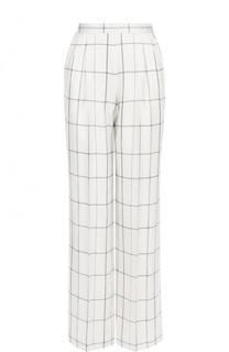 Шелковые брюки прямого кроя с защипами The Row