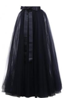 Пышная юбка-макси с широким поясом-лентой Jenny Packham