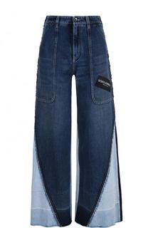 Расклешенные джинсы с потертостями и завышенной талией Dolce & Gabbana