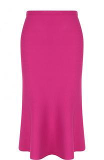 Однотонная вязаная юбка-миди Diane Von Furstenberg