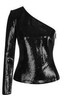 Приталенный топ ассиметричного кроя с пайетками Diane Von Furstenberg