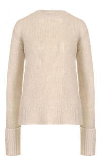 Однотонный кашемировый пуловер фактурной вязки The Row