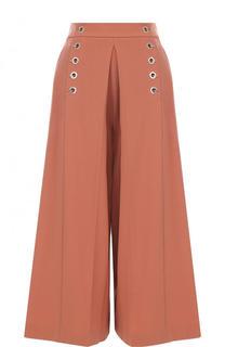 Укороченные расклешенные брюки с карманами Alexander Wang