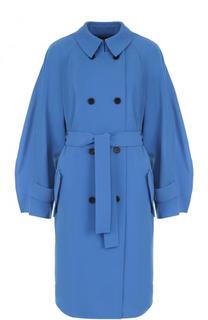 Однотонное двубортное пальто с поясом St. John