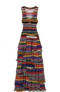 Вязаное платье-макси с многоярусной юбкой Missoni