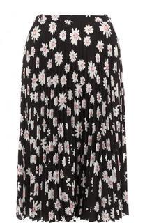 Плиссированная юбка-миди с принтом Balenciaga