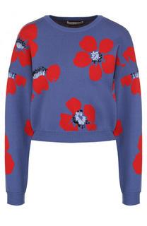 Укороченный пуловер с круглым вырезом и принтом Alice + Olivia