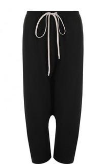 Кашемировые брюки с заниженной линией шагового шва Rick Owens