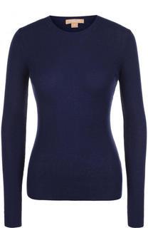 Однотонный кашемировый пуловер с круглым вырезом Michael Kors Collection