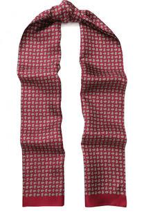 Шелковый шарф с узором пейсли Eton