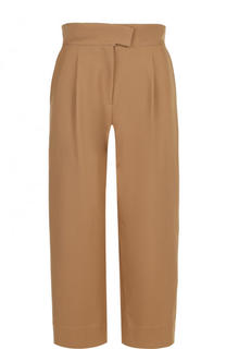 Укороченные хлопковые брюки с широким поясом Carven