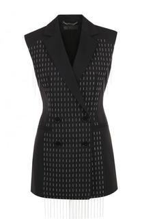 Двубортный шерстяной жилет Versace