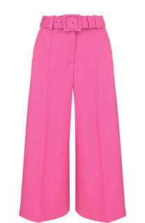 Укороченные шерстяные брюки с ремнем Oscar de la Renta