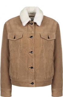 Вельветовая куртка с воротником из овчины Rag&Bone Rag&Bone