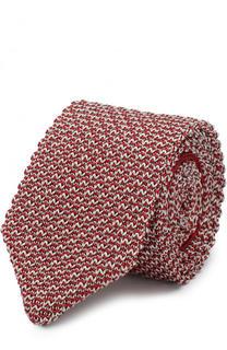 Шелковый вязаный галстук Giorgio Armani