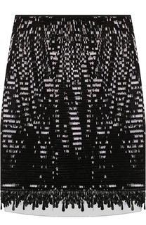 Мини-юбка с прозрачной вставкой и пайетками Marc Jacobs