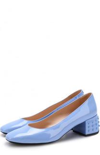 Лаковые туфли на декорированном каблуке Tod's Tods
