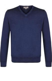 Пуловер тонкой вязки из смеси шерсти и шелка Canali