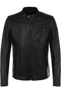 Кожаная куртка на молнии с воротником-стойкой Belstaff
