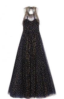 Приталенное платье-макси с открытой спиной Jenny Packham