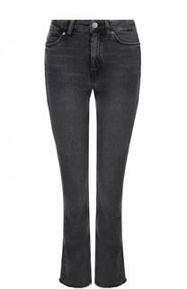 Укороченные расклешенные джинсы с потертостями MiH Jeans