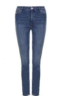 Укороченные джинсы с потертостями MiH Jeans