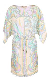 Приталенное мини-платье с принтом Emilio Pucci