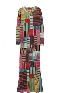 Приталенное вязаное платье-макси Missoni