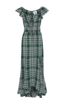 Приталенное платье асимметричного кроя в клетку Rosie Assoulin