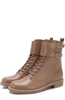 Кожаные ботинки Lagarde на шнуровке Gianvito Rossi