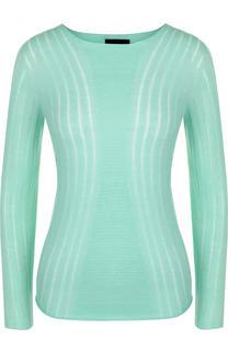 Приталенный кашемировый пуловер с круглым вырезом Giorgio Armani