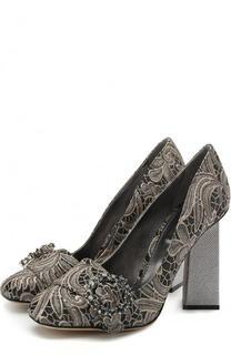 Парчовые туфли Jackie на фигурном каблуке Dolce & Gabbana
