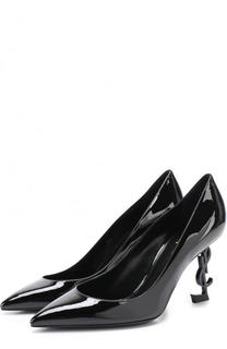 Лаковые туфли Opyum на фигурной шпильке Saint Laurent