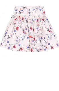 Хлопковая юбка с принтом Simonetta