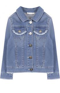 Джинсовая куртка с бахромой Chloé