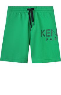 Хлопковые шорты с надписью Kenzo
